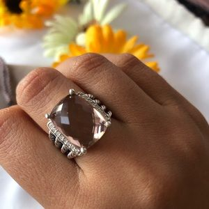 Wheaton Ring with Morganite & Diamonds